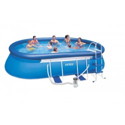 Piscina Intex Oval Frame 549 x 305 x 107 cm