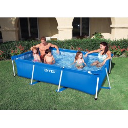 Piscina Intex Rectangular Frame Pools cu cadru metalic 260x160x65 cm