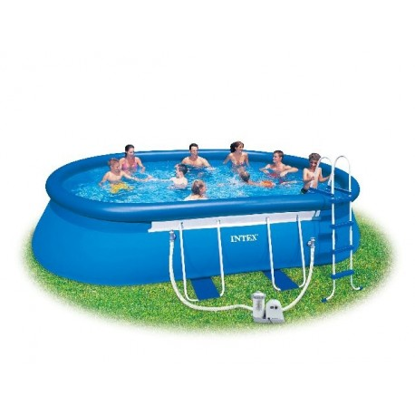 Piscina Intex Oval Frame 610 x 366 x 122 cm