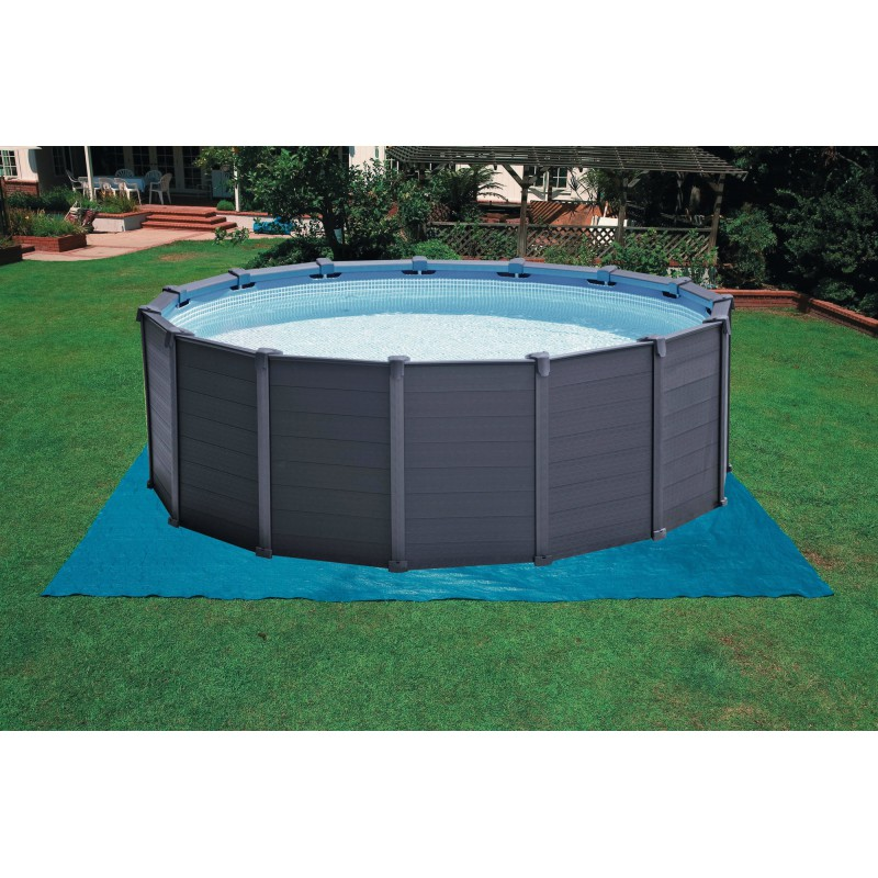 Piscina intex graphite cu cadru metalic for Piscine intex graphite